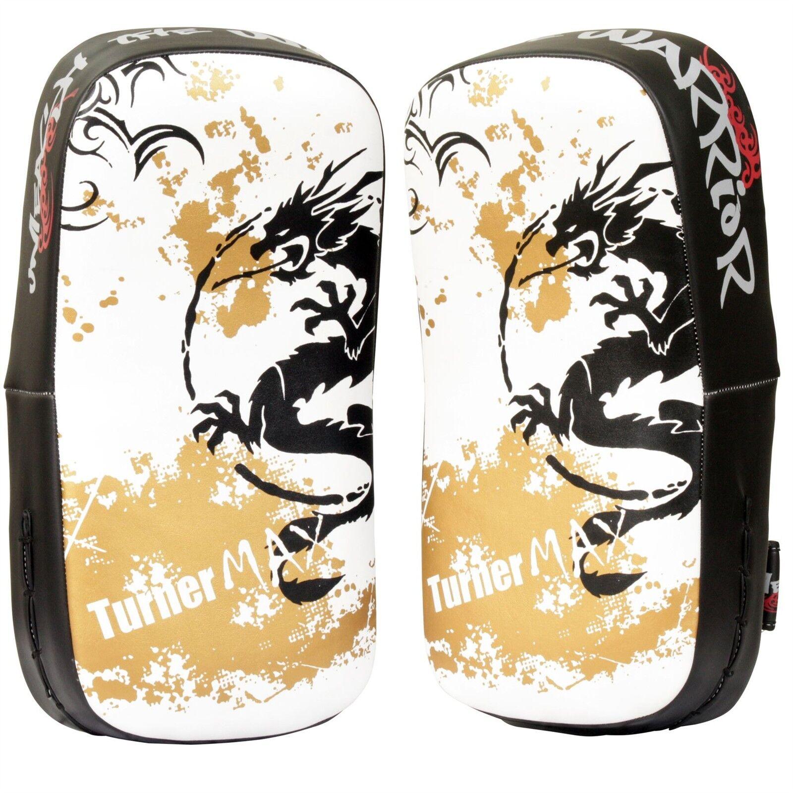 TurnerMAX Muay Thai Pads Training Kick Boxing MMA Martial Arts Punching Shield