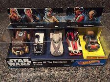 Star Wars Heroes of the Resistance 5 Car Pack Hot Wheels Official NIB