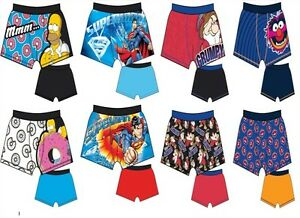 Mens-Novelty-2-pack-Character-Trunks-Boxer-Shorts-Cotton-Underwear-Size-S-XL