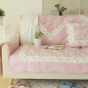 shabby chic cottage country quilted couch sofa loveseat protector cover mat d ebay. Black Bedroom Furniture Sets. Home Design Ideas