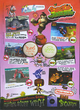 "Donkey Kong Jungle Beat ""Nintendo Gamecube"" 2005 Magazine Advert #4822"