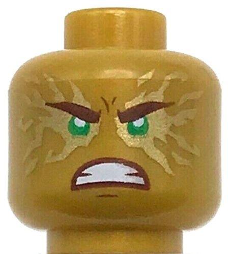 Lego Minifig Ouro Pérola Nova Cabeça Dupla Face Marrom Avermelhado Sobrancelhas Lloyd
