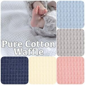 100 Cotton Soft Honeycomb Waffle Dressing Gown Baby Blanket