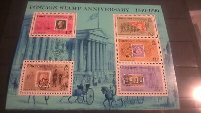 Professioneller Verkauf Guernsey 1990 Block 150 Jahre Briefmarken Stamp On Stamp Postfrisch äRger LöSchen Und Durst LöSchen Motive Briefmarken