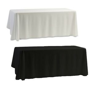 145CM-Square-Tablecloths-Dinning-Banquet-Party-Desk-Cover-White-Black-Hot-Item