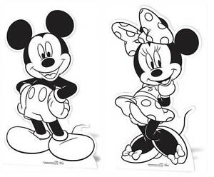 Mickey Mouse Minnie Mouse Cardboard Cutouts Paint Colour In Your