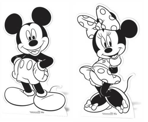 color a tu propio recorte! Mickey Mouse Y Minnie Mouse Cartón recortes Pintura