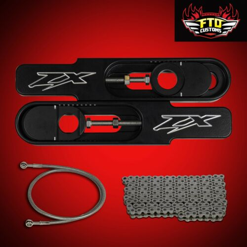 """36/"""" Brake Line 2010 ZX14R Swingarm Extensions 530 Chain ZX14-R Extension,"""