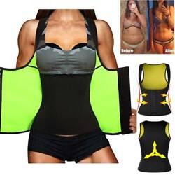 Damen Schweiß Taillenformer Neopren Abnehmen Shirt Bauchweg Shaper Weste Mieder