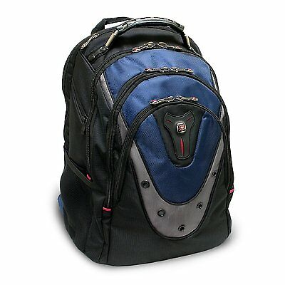 "SwissGear Wenger Ibex 17"" Notebook Air-Flow Back Padding Backpack Black & Blue"