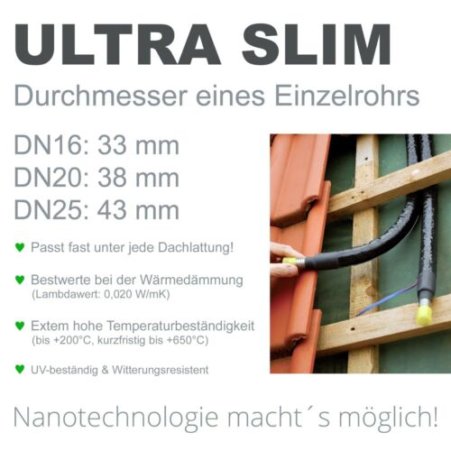 Solarbayer Solar Pipe Solarpipe Nano DN16//DN20//DN25 Metre Solar Tube