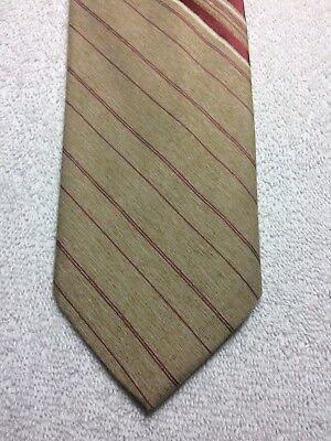 Affidabile Vintage Bergere Cravatta Uomo 3.25 X 56 Beige Con Bordeaux I Consumatori Prima
