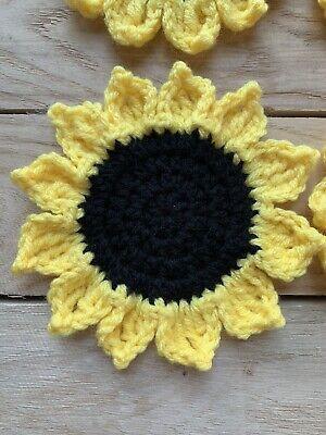 Crochet Sunflower Coaster Set