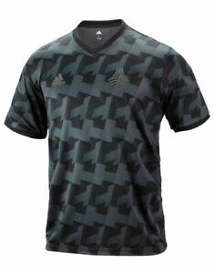 Details about Adidas Tango AOP Jersey DT9195 Soccer Running Training Shirt Men's XS Black