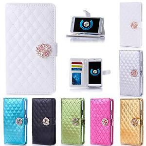Handy-Tasche-Schutz-Huelle-Flip-Case-Cover-Strass-Glitzer-Etui-Schale-Wallet