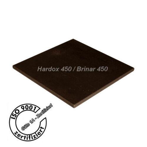 und entgratet Hardox 450// Brinar 450 Stahlplatten 300x300x6 gebrannt