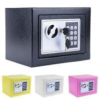 Electronic Digital Home Security Safes Box Keypad Lock Cash Jewelr & Key