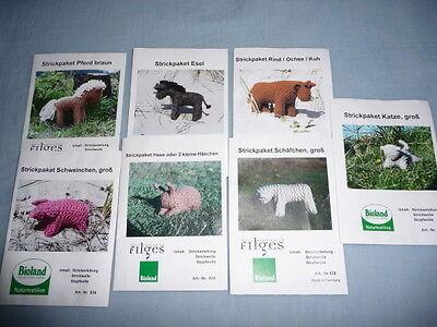 Wolle,pflanzengefärbt Zielstrebig Bastel Stricktier Bio,öko Tier Stricken,auch Für Krippe äRger LöSchen Und Durst LöSchen