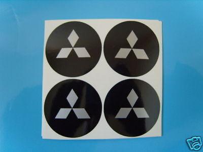 4x 85 mm si adatta MITSUBISHI Ruota Adesivi Badge Centro Centro Trim Cap Hub in Lega
