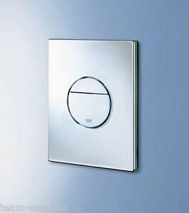 grohe nova cosmopolitan wc dual flush button chrome wall plate 38765 000 ebay. Black Bedroom Furniture Sets. Home Design Ideas