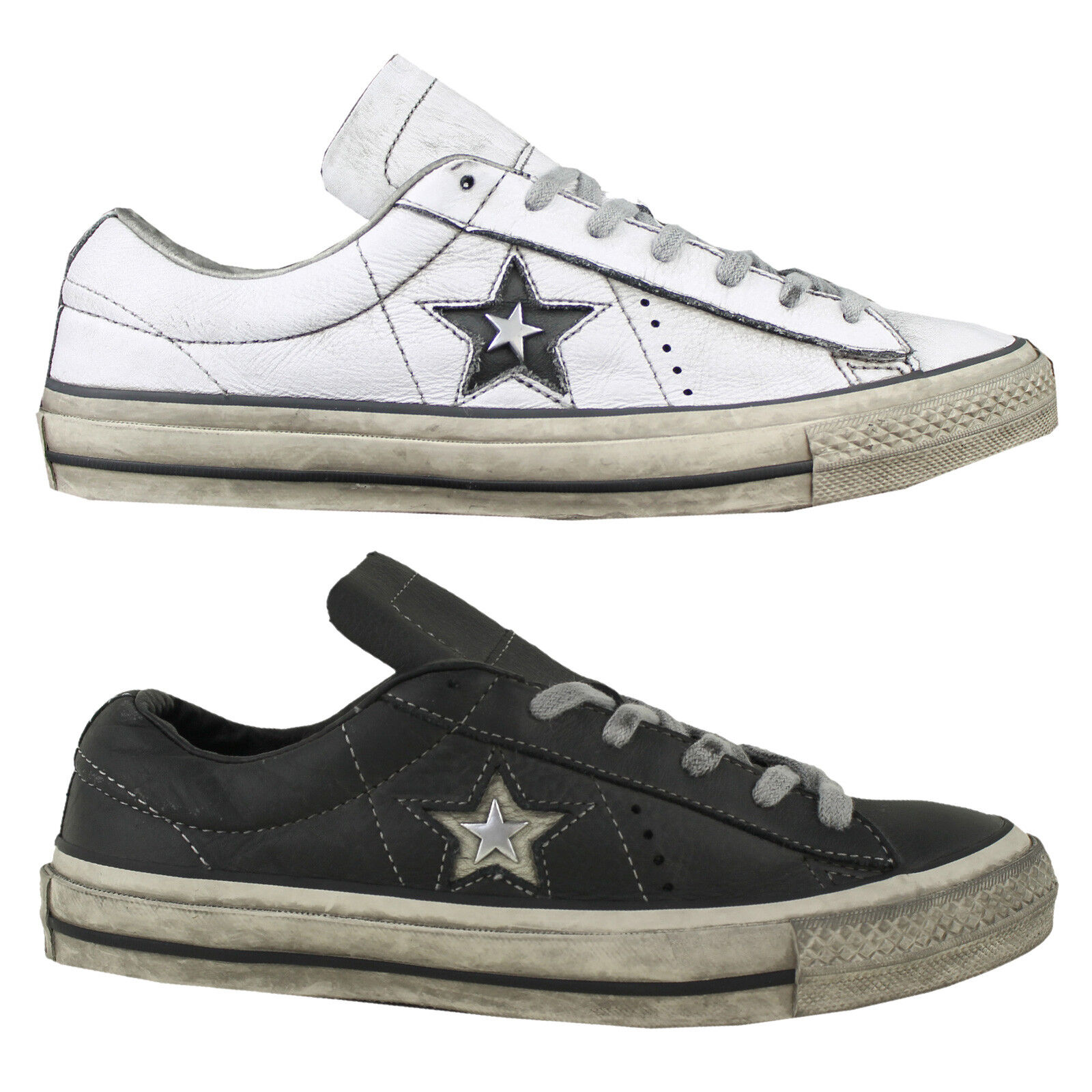 Converse One Ginnastica Star OX Sneaker Donna Scarpe Scarpe Da Ginnastica One Distressed LEATHER NUOVO 35f27c