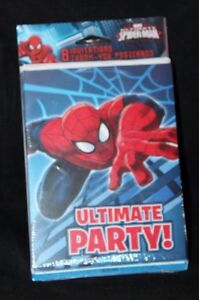 Designware Marvel Spider Man Spiderman 8 Birthday Invitation Thank