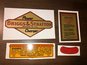 Briggs & Stratton PC 300 Power Charger Gold with UOL Air Cleaner Set of 4