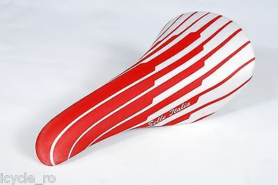 Vintage Selle Italia Bicycle Saddle White /& Red Stripes Lycra Cover