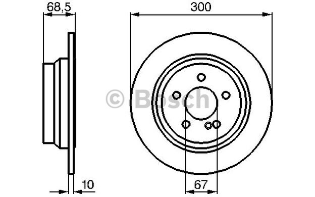 BOSCH Juego de 2 discos freno 300mm MERCEDES-BENZ CLASE E CLS 0 986 479 041
