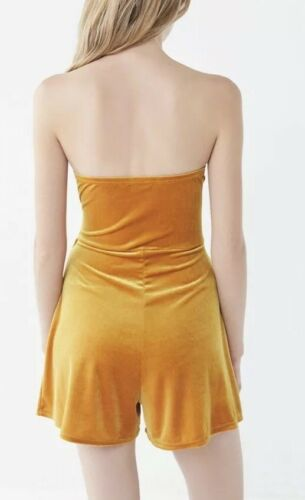 Urban Velvet Front Nwt Taglia Pagliaccetto Colore s giallo Outfitters Maddie Tie 6dqpqH