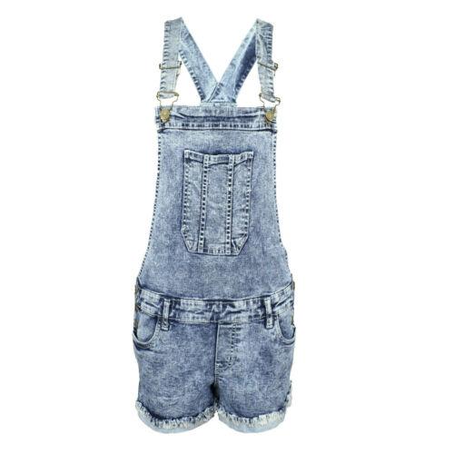 Femme denim dungaree new playsuit jumpsuit dungarees short robe jeans