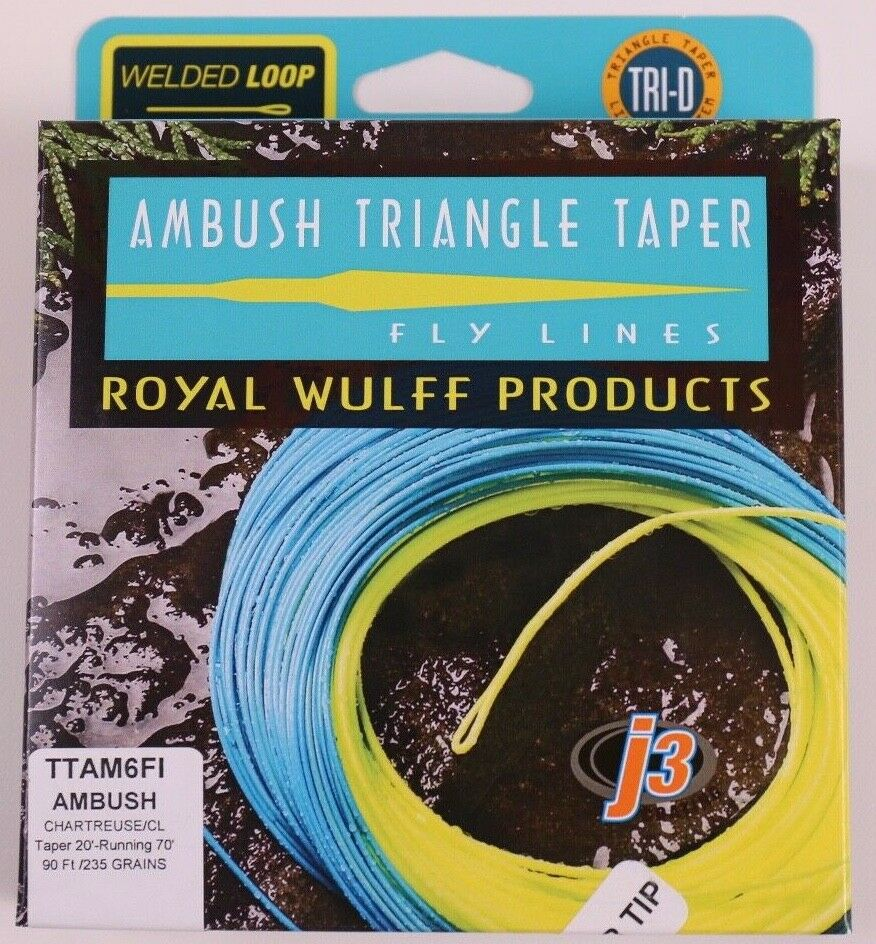Royal Wulff Ambush Taper Klarer Tipp 6 weißht Fliegen Line Free Fast Shipping TTAM6FI
