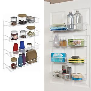 Over The Door Pantry Spice Rack Organizer Kitchen Storage Shelves Wall Mount Ebay