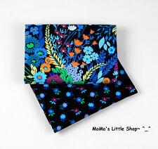 Beautiful Vera Bradley Fabric (Midnight Blues) —— 2 Matching Fat Quarters