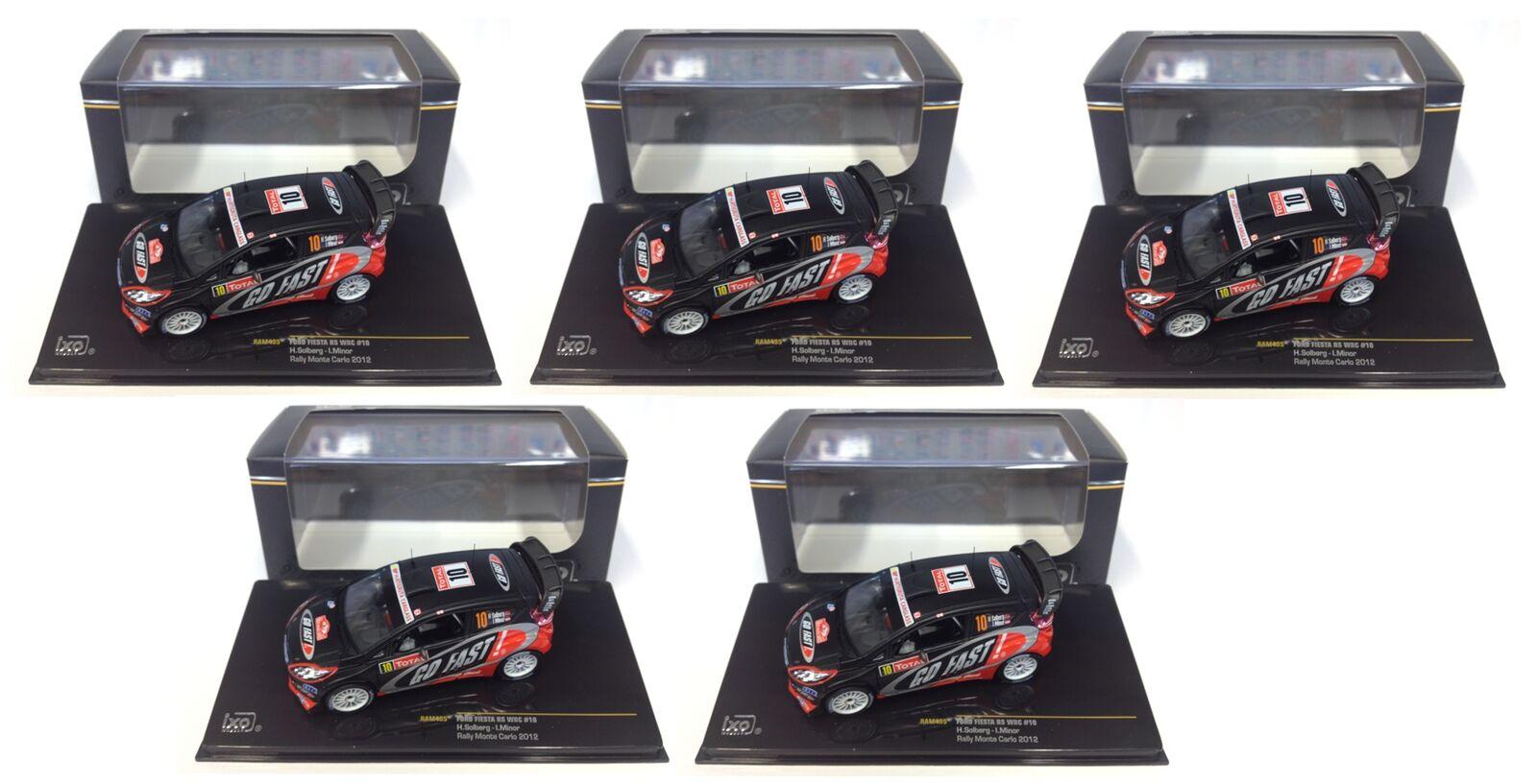 LOT REVENDEUR DE 5 FORD FIESTA RS WRC RALLYE 1 43 VOITURE DIECAST IXO RAM495