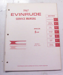 service manual for 5 hp evinrude outboard motor 1967 ebay rh ebay com 1967 Johnson 60Hp Outboard Evinrude Serial Number Decode