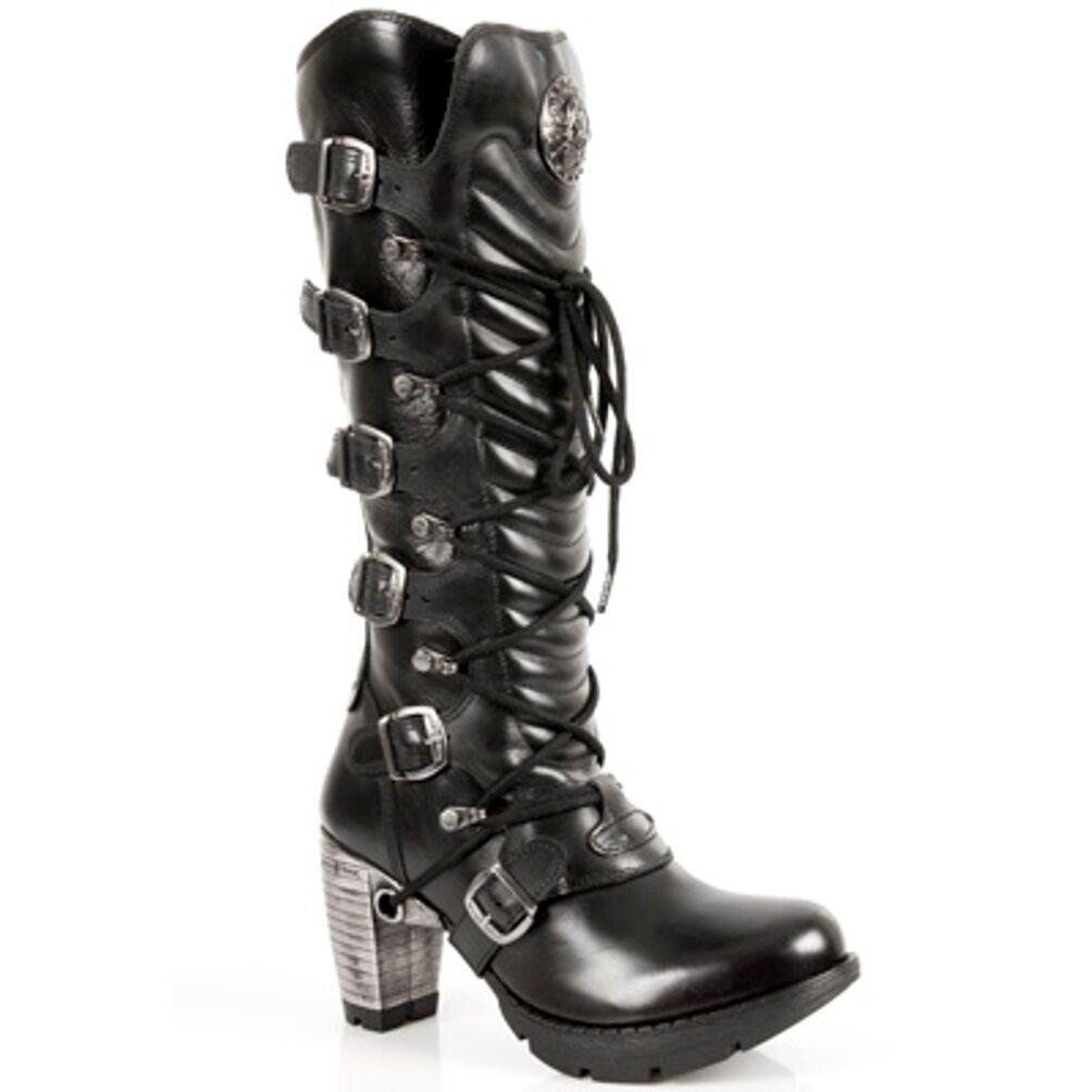 Newrock New Rock para Mujer botas botas botas Estilo m.tr 004 S1 Acero Negro Tacones  en linea