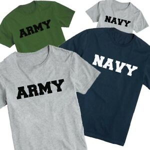 US ARMY NAVY TSHIRT MARINE NAVY ARMY PHYSICAL TRAINING TEE SHIRT  99513b678bf