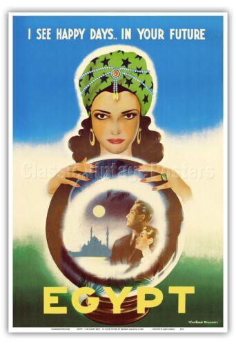 Egypt Africa Vintage World Travel Art Poster Print