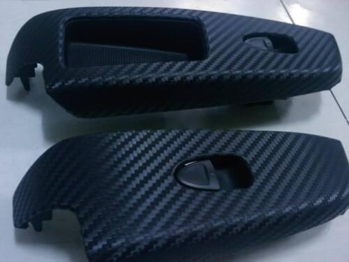 3D fibre de carbone feuille vinyle texturé autocollant big grilles Sans Bulle Air
