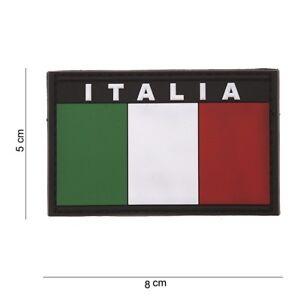 Toppa-3D-Patch-Scretch-scritta-ITALIA-e-Bandiera-Plastificata-in-PVC-con-velcro