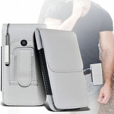 Premium PU Leather Belt Pouch Holster Case & Pen For Apple Iphone 4S