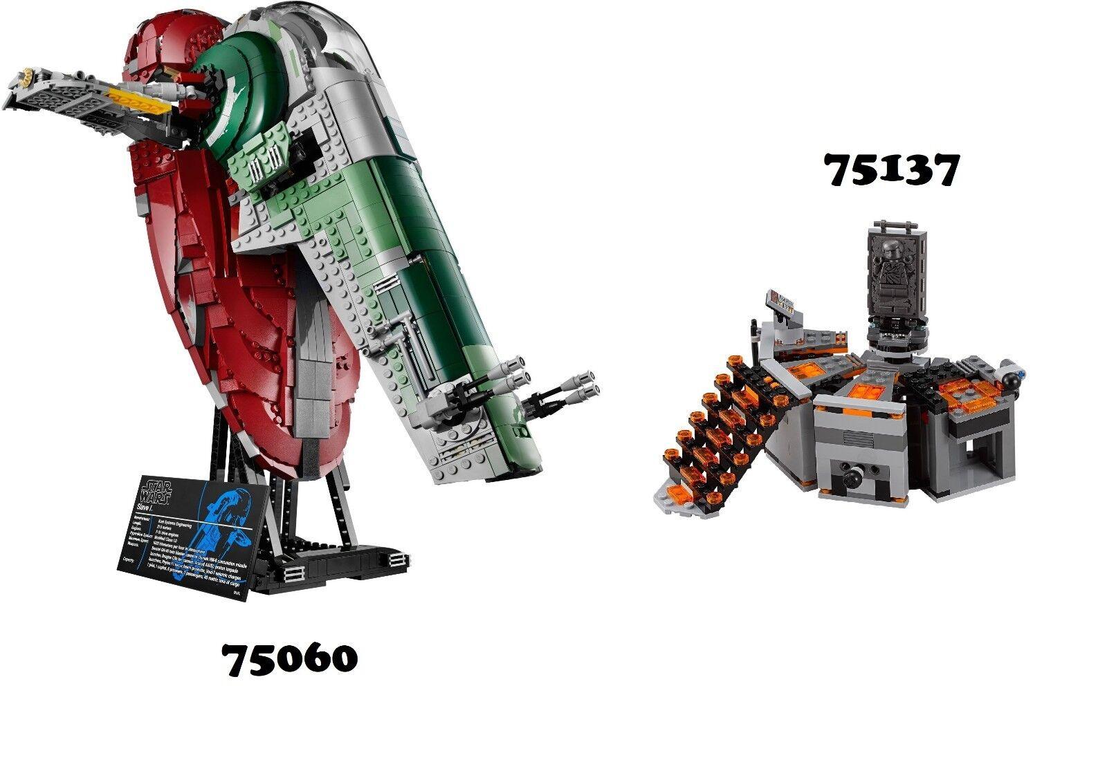 NEW Lego Star Wars 75060 UCS & 75137 Combo Sets NO MINIFIGURES