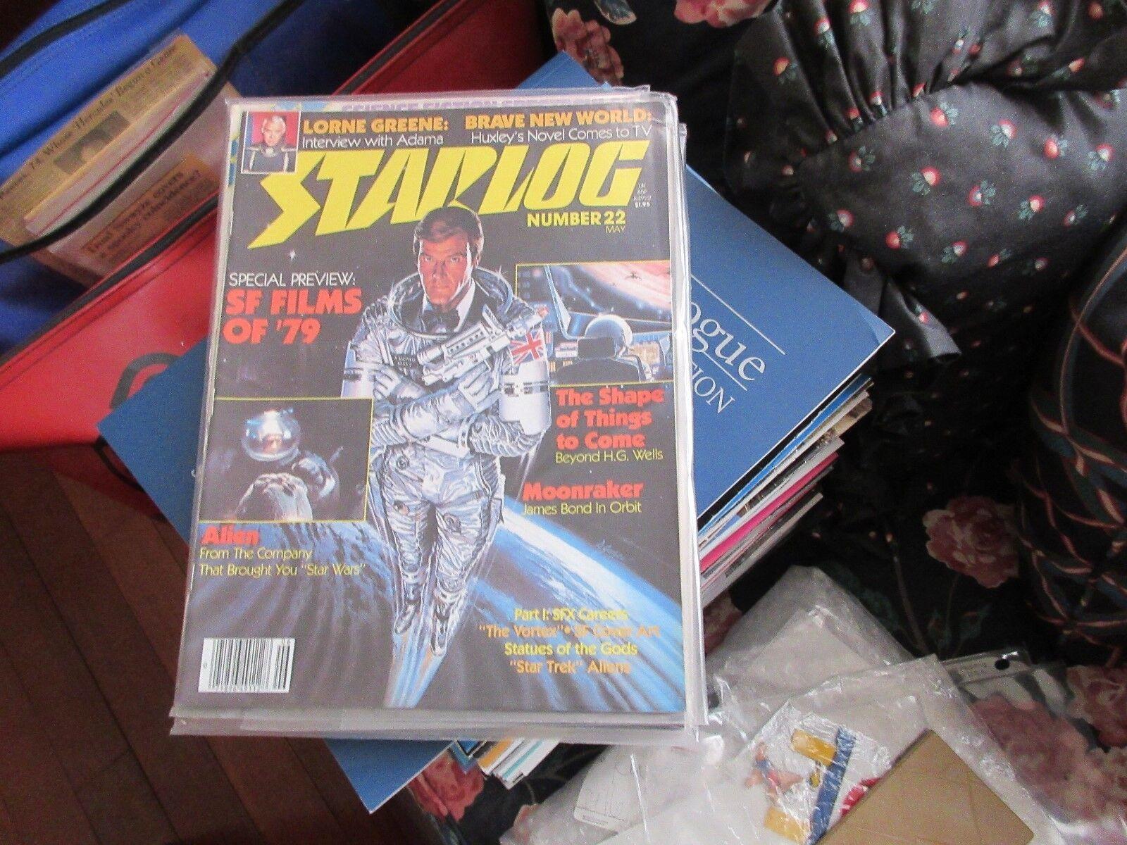 STARLOG , #22 , New/Old Inventory , Lorne Greene , Brav