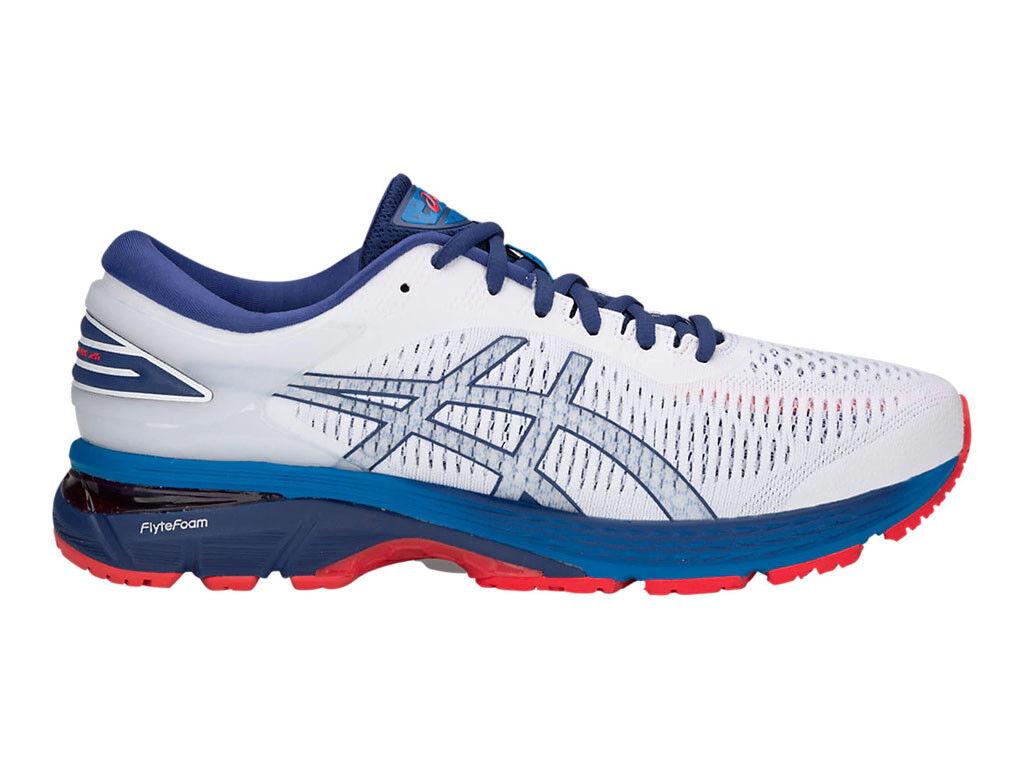 [asics] GEL-KAYANO 25 WHITE / / / BLUE PRINT Men's Running Shoes 1011A019.100 109449