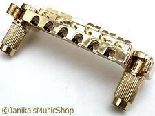 Gold wraparound guitar bridge hard tail piece wrap around over Janika -UK SELLER