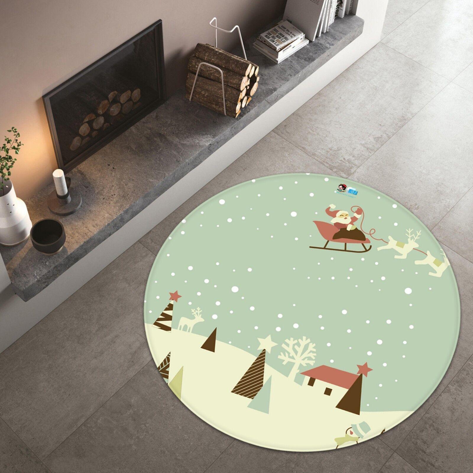 3D Natale Xmas Pattern 34 tappetino antiscivolo tappeto camera tappetino tappeto rossoondo elegante UK