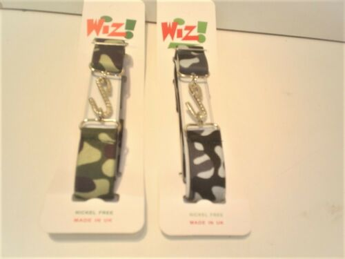 wiz camouflage green or grey  elastic  with snake buckle super strong