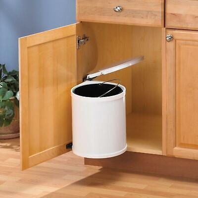 Cabinet Pivot Out Trash Can White Kitchen Under Sink