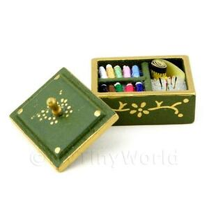 Dolls-House-Miniature-Complete-Sewing-Kit-In-A-Wooden-Box